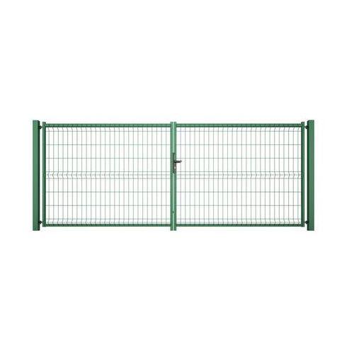 Wiśniowski Brama dwuskrzydłowa vera 400 x 153 cm zielona