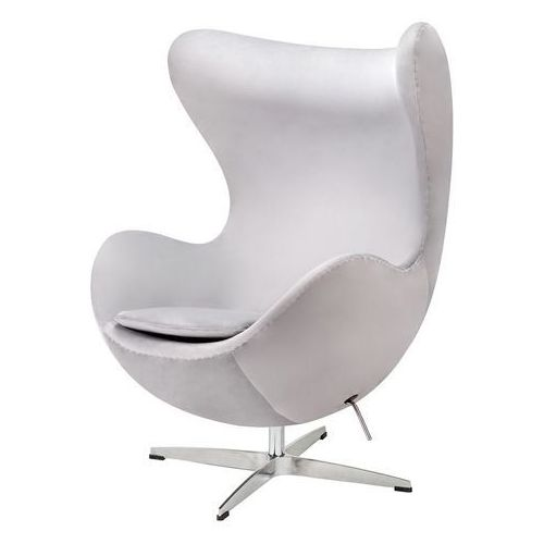 Fotel inspirowany EGG CLASSIC VELVET jasny szary - welur, podstawa chromowana, JH-026.LGREY.67 (11783703)