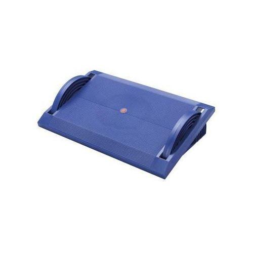 Twinco Podnóżek z tworzywa, bezstopniowa regulacja, niebieski. idealne do różnej wysoko