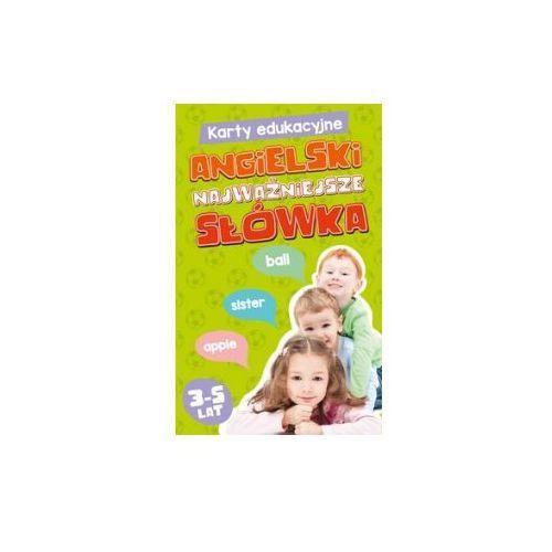 OKAZJA - Karty edukacyjne. angielski najważniejsze słówka. 3-5 lat marki Edgard
