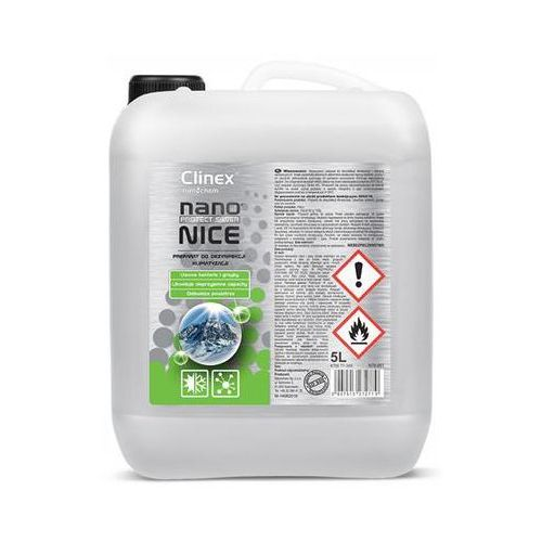 Preparat do dezynfekcji układów klimatyzacji i wentylacji CLINEX Nano Protect Silver Nice 5L 70-345