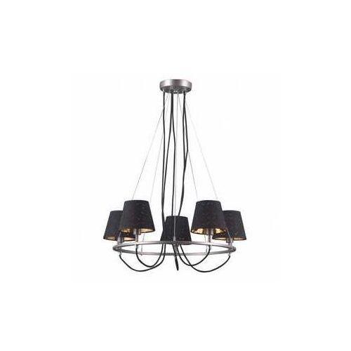 Lampa wisząca Terry 5 x 40 W E14 satyna/nikiel/chrom