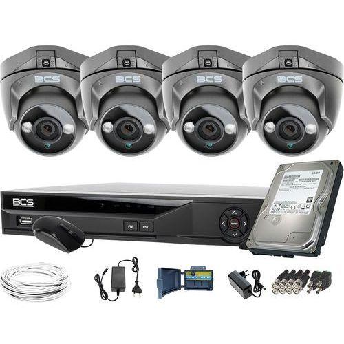 Zm11950 4 kamery zewnętrzne wewnętrzne -dmqe1500ir3-g bcs-xvr04014ke-ii 1tb marki Bcs