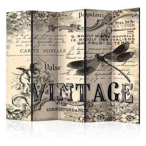 Artgeist Parawan 5-częściowy - vintage correspondence ii [room dividers]