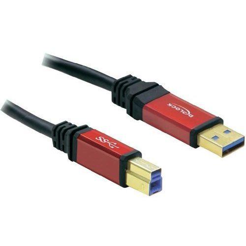 Kabel usb 3.0  82758, [1x złącze męskie usb 3.0 a - 1x złącze męskie usb 3.0 b], 3 m, czerwony, czarny marki Delock