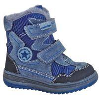 Protetika buty zimowe za kostkę chłopięce Riki 21 szary/niebieski (8585003418738)