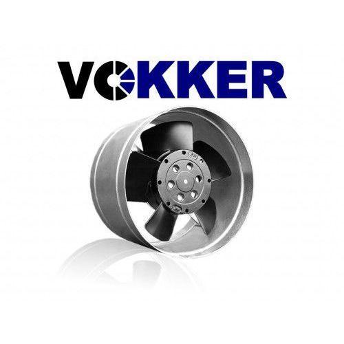 Vokker Wentylator kanałowy, metalowy z termostatem 150mm whisper 340m3/h (whisper150a)