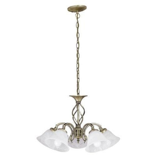 Lampa wisząca Rabalux Beckworth 5x40W E14 brąz/biały 7135