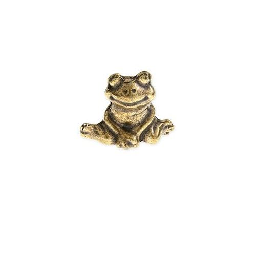 Figurka złota siedząca żaba amulety talizmany symbole chińskie kolor stare złoto marki Jubileo.pl