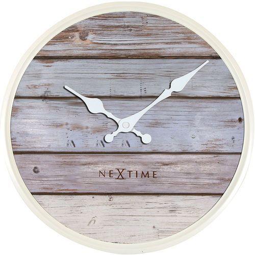 Zegar ścienny Nextime Plank 30 cm (3133 GS), 3133gs