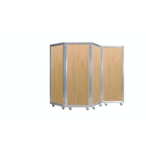 System parawanów, element z płytą dekoracyjną, wys. x szer. 1800x600 mm, imit. b marki Bruno klein systembau