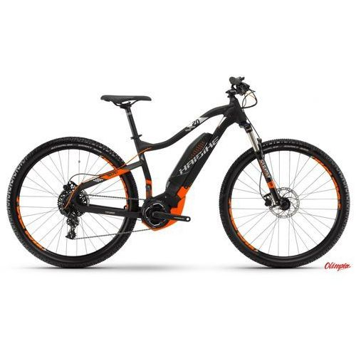Haibike Rower elektryczny sduro hardnine 2.0 czarno/pomarańczowy/srebrny mat 2018
