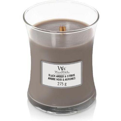 Świeca core black amber & citrus średnia marki Woodwick