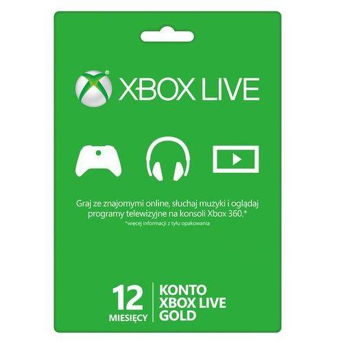 Karta xbox live abonament na 12 miesięcy marki Microsoft