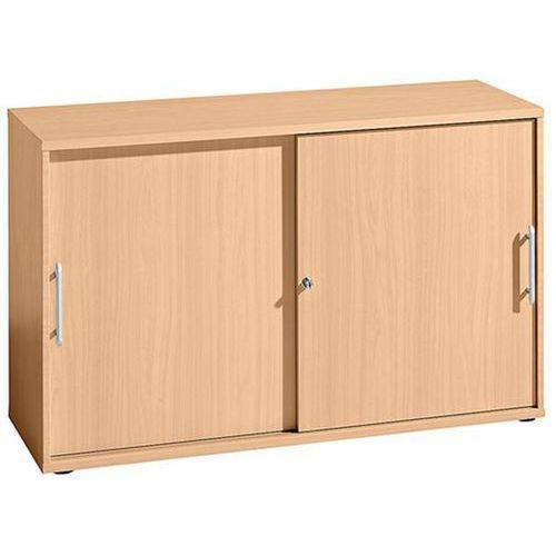 FINO - Szafa z przesuwanymi drzwiami, po 1 półce, 1 ścianka działowa, wys. x sze