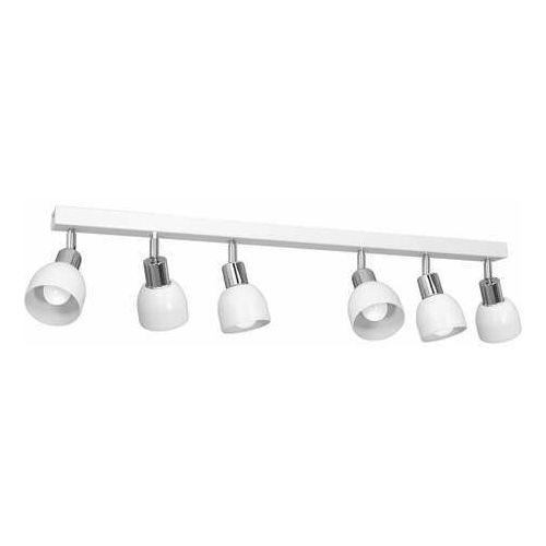 Luminex Fresno 3215 plafon lampa sufitowa spot 6x60W E27 biały/chrom (5907565932157)