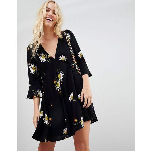 Free People Time On My Side floral print dress - Black