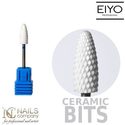 Frez ceramiczny do żelu i akrylu - stożek medium - – 1 szt marki Nails company