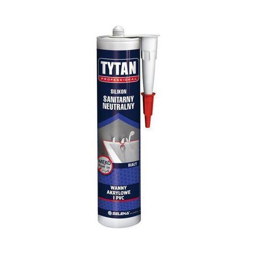 Tytan Silikon sanitarny neutralny 280 ml biały wanny akrylowe i pvc