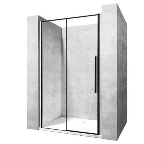Rea Drzwi prysznicowe szerokość 100 cm czarne profile solar uzyskaj 5 % rabatu na drzwi (5902557337477)