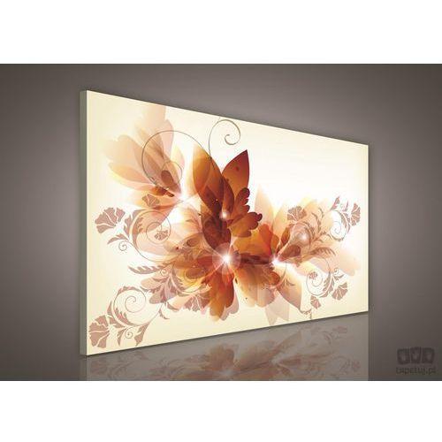 Consalnet Obraz złote kwiaty w bogatym klasycznym wydaniu pp271o1