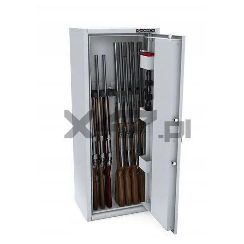 Konsmetal Szafa na broń długą mlb 125/4+4 el s1 - zamek elektroniczny