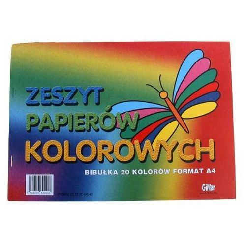 Zeszyt papierów kolorowych A4