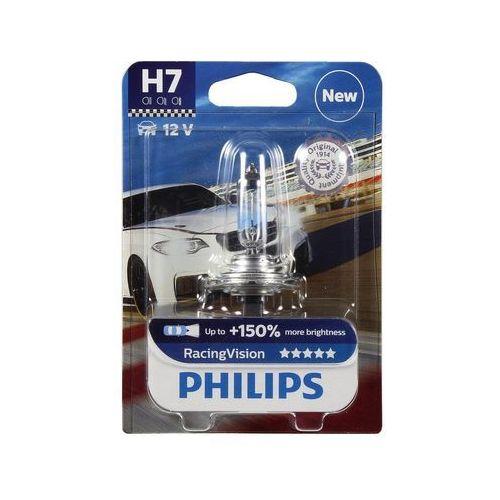 Żarówka samochodowa racingvision 12972rvb1 h7 px26d/55w/12v marki Philips