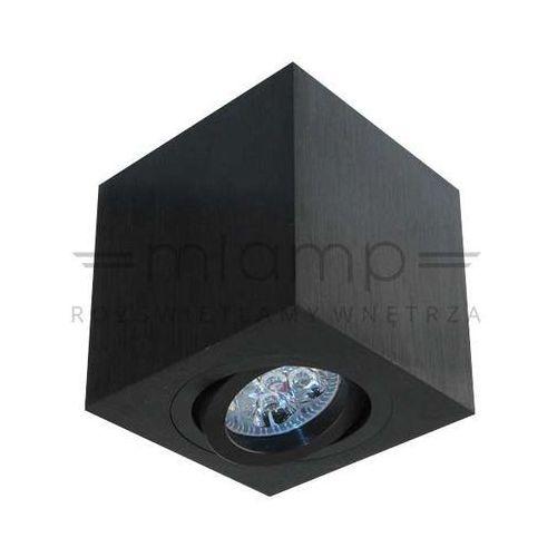 Regulowana LAMPA sufitowa LAGO nero Orlicki Design spot OPRAWA metalowa kostka cube czarna, kolor Czarny