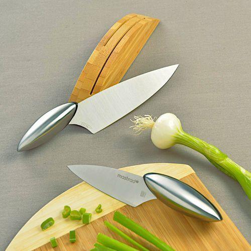 Zestaw 2 stalowych noży do szatkowania marki Mastrad