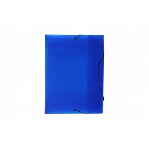 Biurfol Teczka skrzydłowa z gumką tg-13-03 transparentna niebieska