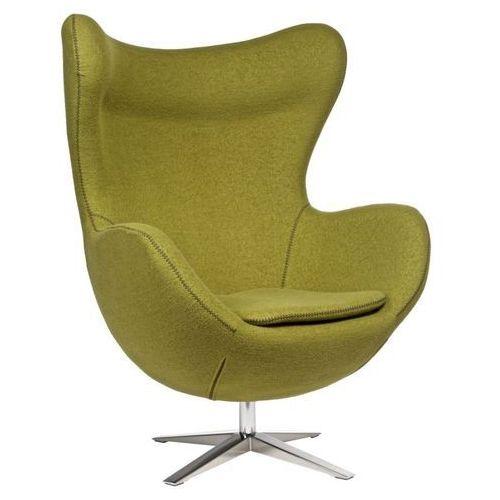 7710 fotel jajo szeroki tkanina oliwkowa marki D2