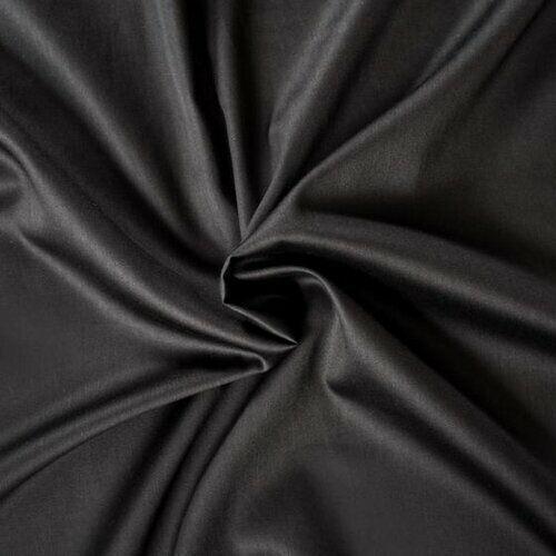Kvalitex Prześcieradło satynowe czarny, 140 x 200 cm
