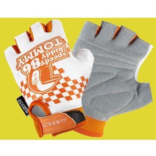 Rękawiczki dziecięce Accent Tommy biało-pomarańczowe S/M, kolor pomarańczowy