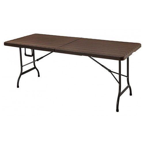 Stół cateringowy składany Turner 2X - brąz, kolor brązowy