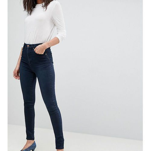 ASOS DESIGN Tall 'Sculpt me' high rise premium jeans in dark wash blue - Blue, kolor niebieski
