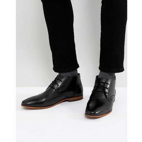 leather desert boots in black - black, Pier one