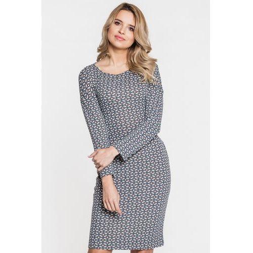 Sukienka w geometryczny wzór - marki Ryba