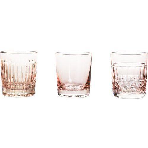 Huta julia Szklanki do whisky veranda 3 szt. różowe