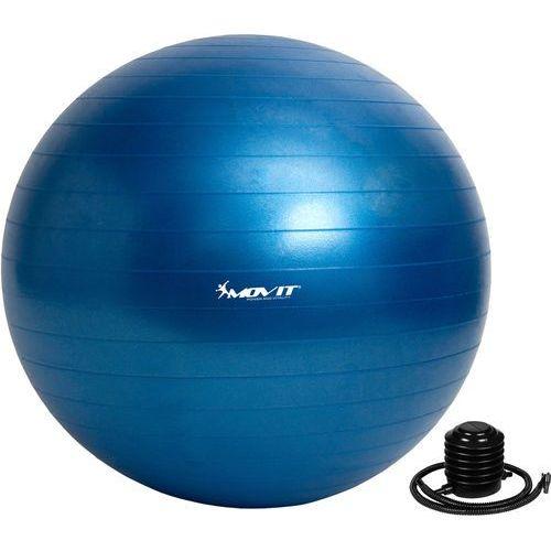 Movit ® Niebieska piłka fitness rehabilitacyjna 85 cm pompka - 85 cm / niebieski (20040537)