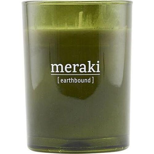Świeca zapachowa earthbound duża w zielonym szkle marki Meraki