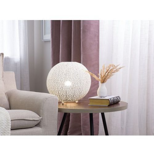 Beliani Lampa stołowa biała finke