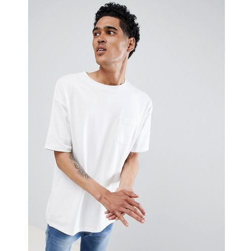 join life t-shirt in white with pocket - white marki Pull&bear