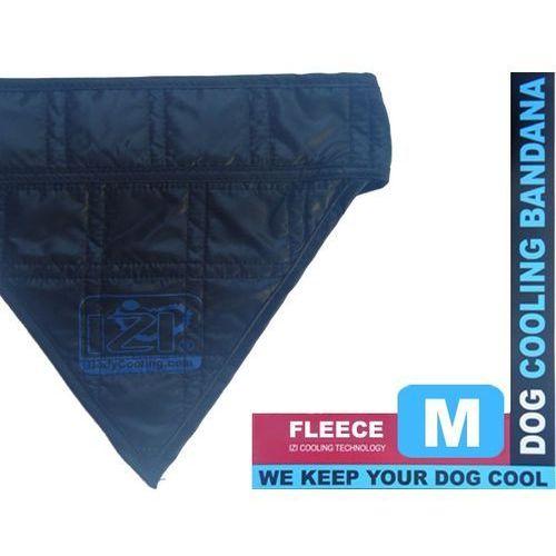 Czarna bandamka dla psa z wełną chłodzącą rozmiar M