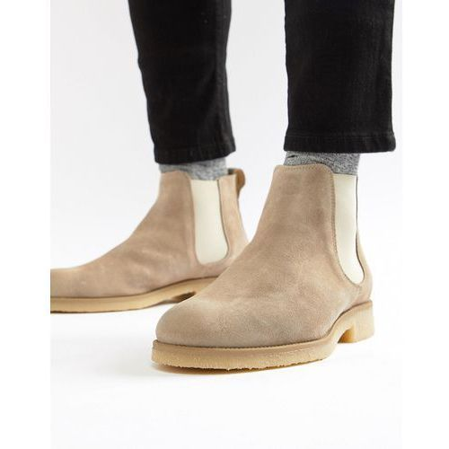 River Island Suede Chelsea Boot In Light Grey - Grey