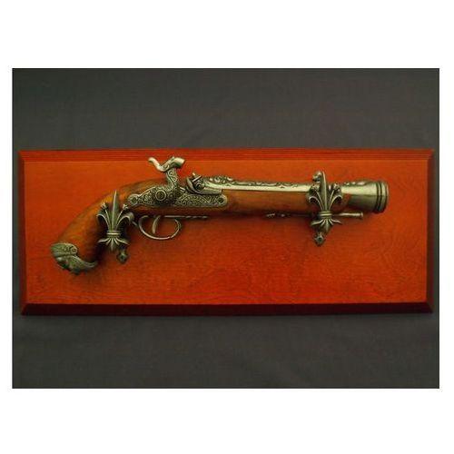 Replika włoski pistolet skałkowy na tablo denix model 1104g+tm+11g marki Denix sa