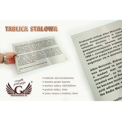 Tablica stalowa - sz083 - wym. 420x300mm marki Grawernia.pl - grawerowanie i wycinanie laserem