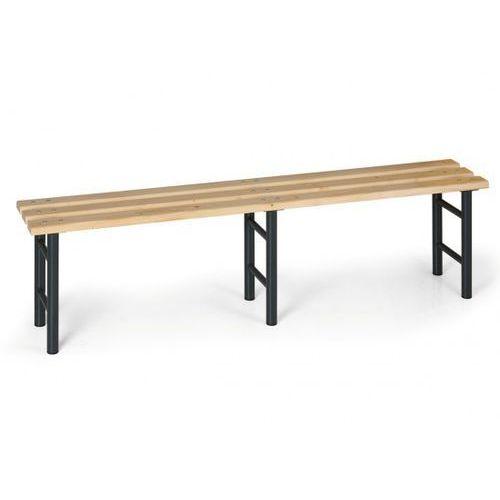 Ławka szatniowa, siedzisko - listwy, nogi antracyt, 2000 mm marki B2b partner