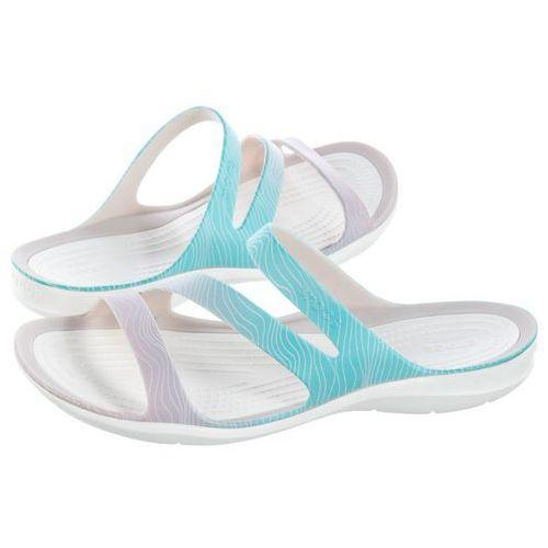 Klapki swiftwater seasonal sandal w pool ombre/white 205637-4ls (cr163-a) marki Crocs
