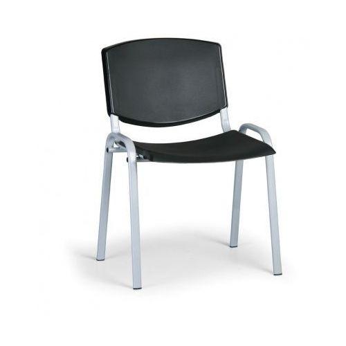 Krzesło konferencyjne Smile, czarny - kolor konstrucji szary